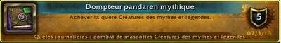 Dompteur pandaren mythique