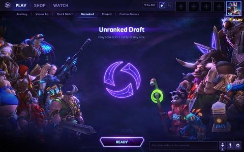 Heroes of the Storm - Arrivée du mode draft non classé, correctifs sur le matchmarking et patch note du 3 juin