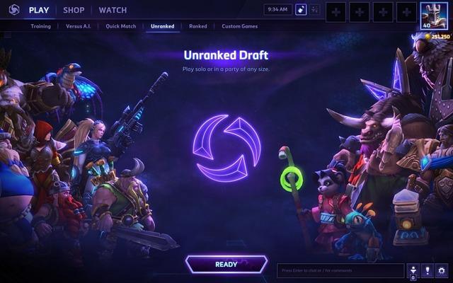 Arrivée du mode draft non classé, correctifs sur le matchmarking et patch note du 3 juin