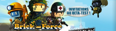 500 invitations au bêta-test de Brick Force