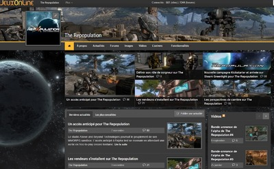 Un site pour la section JeuxOnline The Repopulation