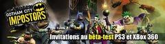 Invitations au bêta-test de Gotham City Impostors sur PS3 et Xbox 360