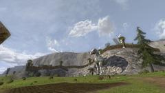 Statue cheval géante