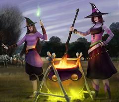Sorcières d'Halloween