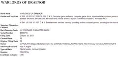 Blizzard dépose la marque Warlords of Draenor à travers le monde