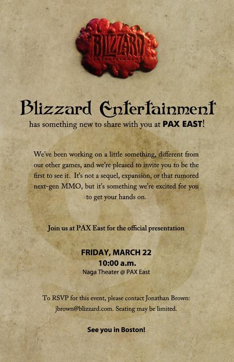 Blizzard Entertainment - Un « petit quelque-chose de différent » à l'occasion de la PAX East