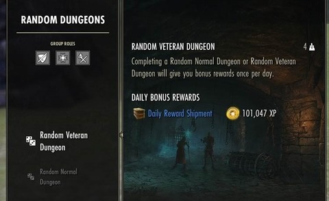 ESO DUNGEON FINDER DAILY BONUS REWARD