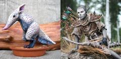 Une figurine et un cosplay par 2 joueurs de TESO