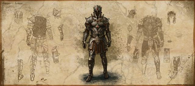 L'Empereur d'Elder Scrolls Online fend l'armure