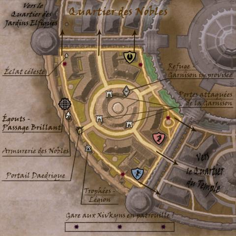 Carte commentée du Quartier des Nobles