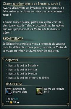 Chasse aux trésors géante de Brunante - Partie 1