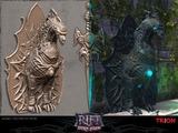 Modèles 3D - - Modles3D Dragon Statue Tri