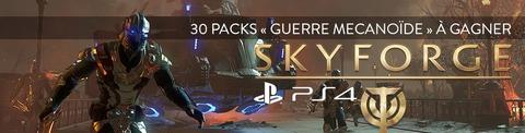 Jeu-concours Skyforge : 30 packs « Guerre Mécanoïde » sur PS4 à gagner