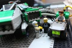 Un projet Lego pour le F7A Hornet de Star Citizen