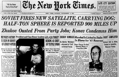 1957 : Un être vivant dans l'espace