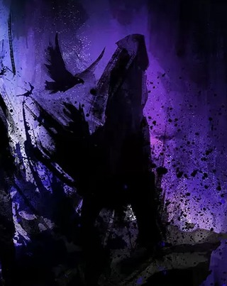 Silhouette probable d'une morrigan