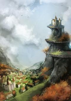 Maison en haut d'une colline