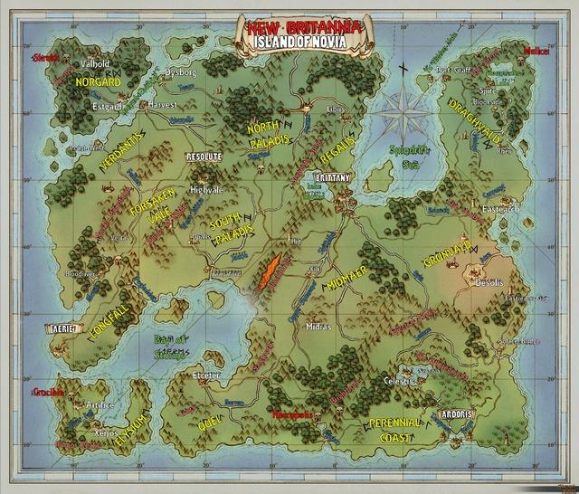 Carte de SotA - île de Novia