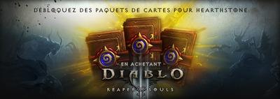 Débloquer des paquets de cartes sur HearthStone pour l'achat de Reaper of Souls