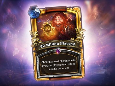 20 millions de joueurs pour Hearthstone