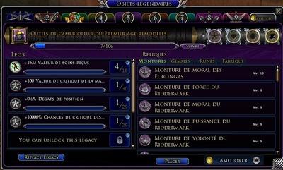 Le nouveau système d'armes légendaires vu par Skro