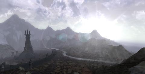Le Gouffre de Helm - Estel guide Sapience sur la route d'Isengard le 9 mai