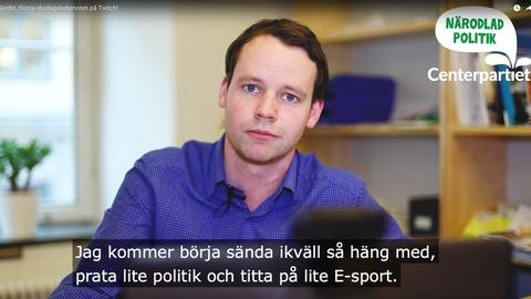 Twitch - Quand les parlementaires suédois militent pour l'eSport et font campagne sur Twitch
