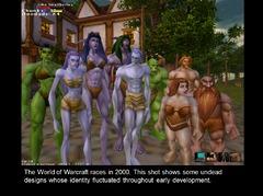 World of Warcraft en 2000 - races jouables (plusieurs essais de morts-vivants)