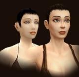 Le visage de l'humaine avant et après remodélisation