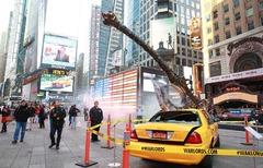 Intrusion frappante des Seigneurs de Guerre dans Times Square