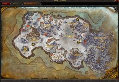 Carte Crête de Givrefeu (Alpha WoD)