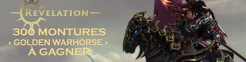 Revelation Online - Distribution : 300 montures « Golden Warhorse » de Revelation Online à gagner