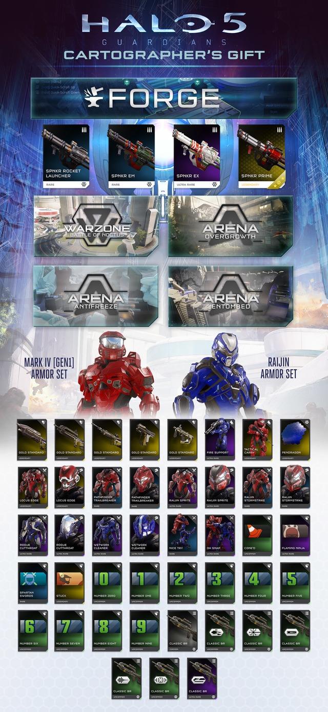 """Extension gratuite """"Cartographer's Gift"""" pour Halo 5 annoncée"""