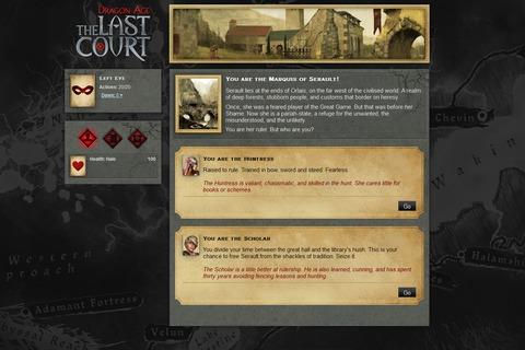 Un jeu d'aventure textuel pour faire le lien entre Dragon Age II et Inquisition