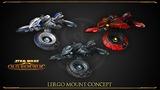 Concept art du véhicule Lergo dans Shadow of Revan