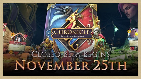 Chronicle RuneScape Legends - Les cartes et aventures de Chronicle RuneScape Legends en bêta à partir du 25 novembre