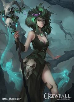 Présentation du druide de Crowfall, la force de la nature dans des mondes moribonds
