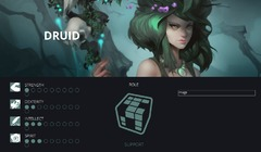 Statistiques du druide de Crowfall