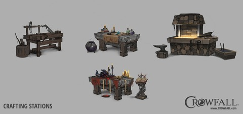Crowfall s'intéresse à l'artisanat