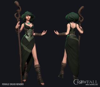 Présentation des pouvoirs du druide de Crowfall et de son interface