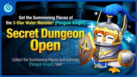 Summoners War - Donjon Secret : Penguin Knight Eau