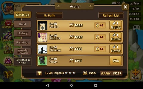 Summoners War - L'Arène