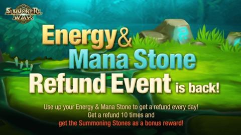 Summoners War - L'évènement de remboursement d'Energie et Mana est de retour