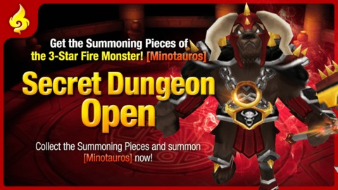 Summoners War - Donjon Secret : Minotaure Feu