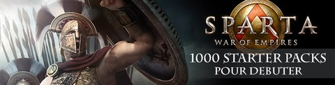 1000 « starter packs » pour bien débuter dans Sparta: War of Empires