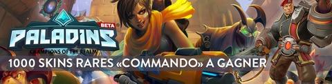 Paladins: Champions of the Realm - Paladins en bêta ouverte : 1000 codes pour débloquer Buck et son skin rare « Commando »
