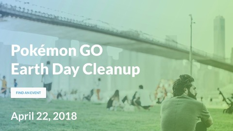 Pokémon Go - Pokemon Go s'associe au Earth Day Cleanup le 22 avril