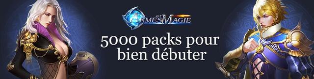 5000 packs pour bien débuter dans Armes et Magie