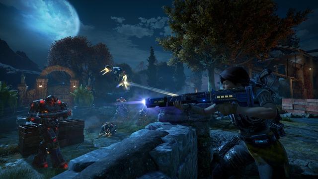Kait, la nouvelle héroïne, armée de l'EMBAR, un Sniper à trois coup relativement efficace à moyenne portée.