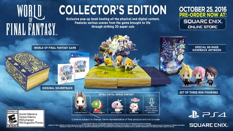 World of Final Fantasy - Plein d'images, une vidéo et une édition collector pour World of Final Fantasy